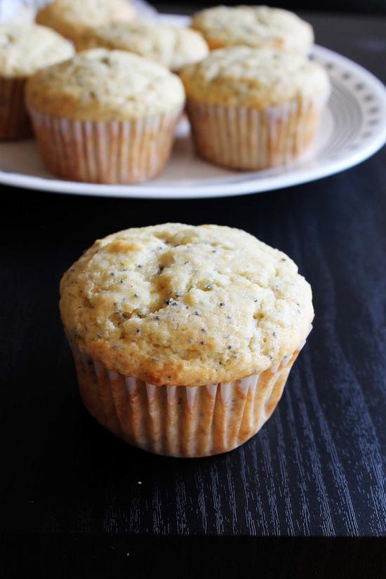 Eggless Lemon Poppy Seed Muffins Recipe