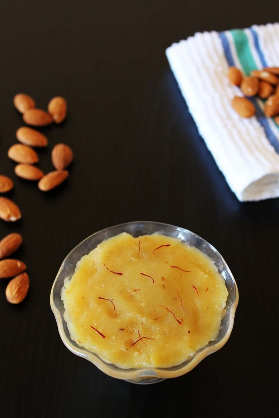 Badam Halwa recipe - how to make badam halwa - Easy diwali recipe