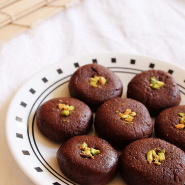 Chocolate Peda - Easy diwali sweet recipe