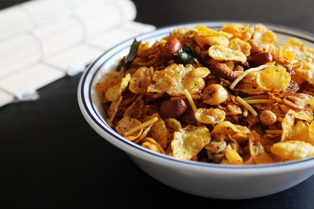 how to make cereal chivda
