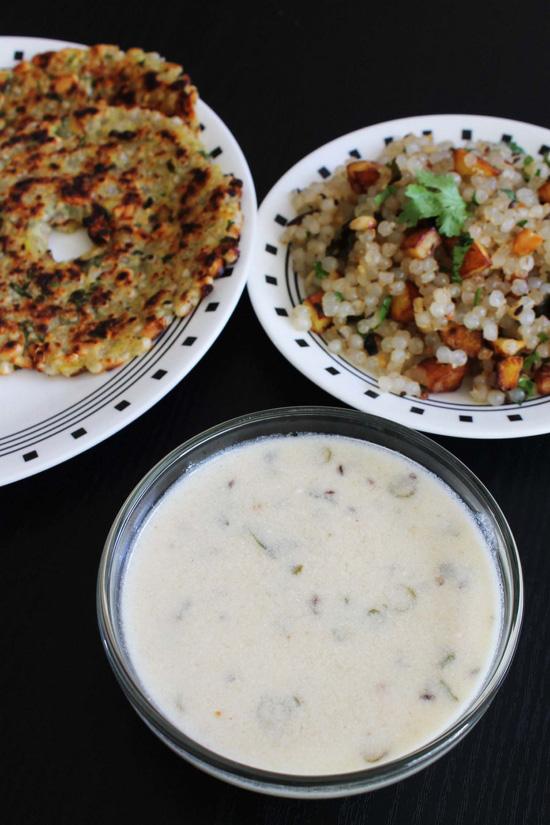 Rajgira kadhi recipe (Farali kadhi for vrat)