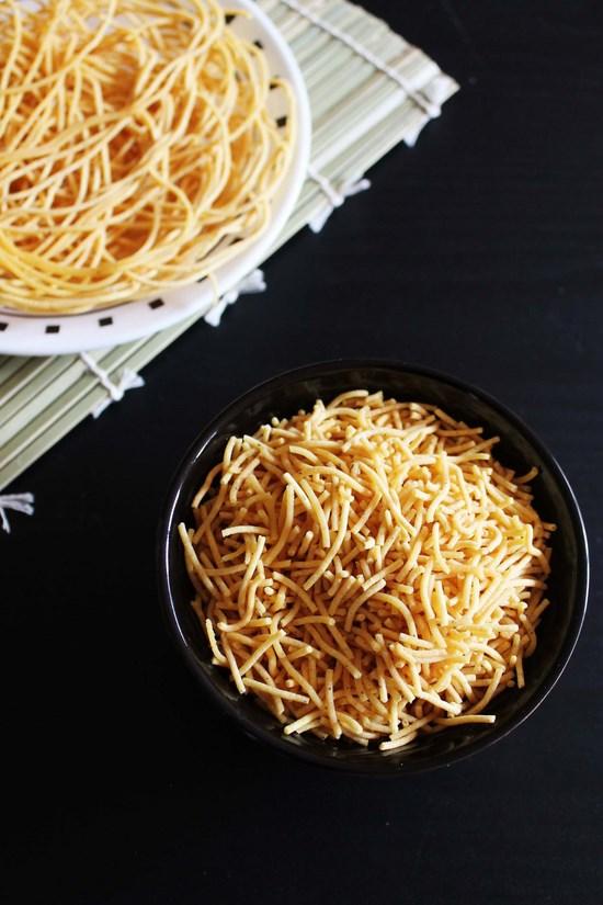 Sev Recipe (How to make sev), Besan sev recipe for chaat