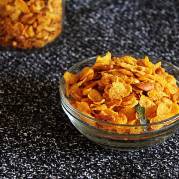 Corn flakes chivda recipe