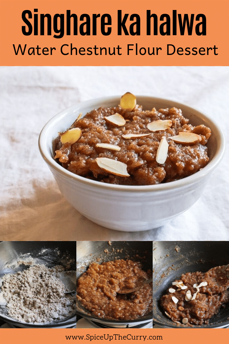 singhare ka halwa recipe pin