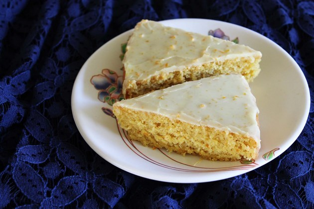 Eggless & Vegan Orange Cake recipe with orange flavored icing