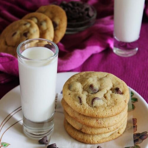 BEST} Eggless Chocolate Chip Cookies - Spice Up The Curry