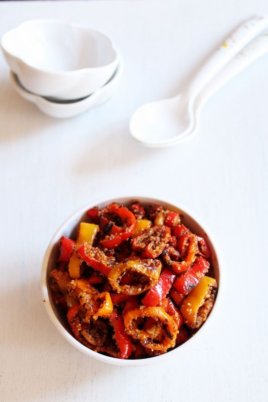 Vine sweet mini peppers sabzi recipe