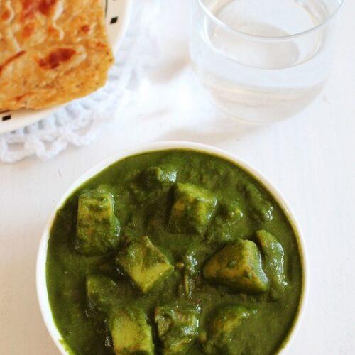 Aloo Palak Recipe | Aloo palak gravy recipe | potato spinach curry