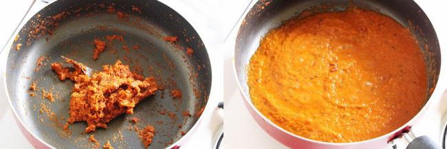 cooking onion tomato paste