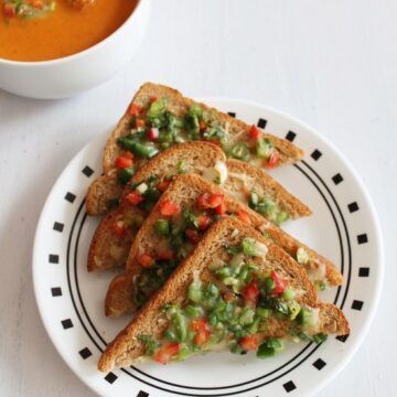 Chilli Cheese Toast Recipe | How to make Cheese Chilli Toast