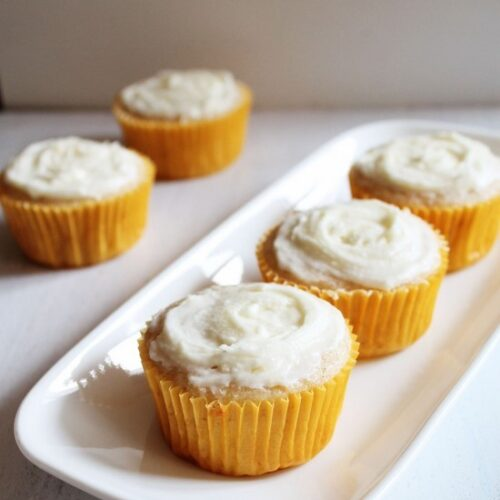 Eggless Lemon Cupcakes Recipe | Easy eggless baking recipe