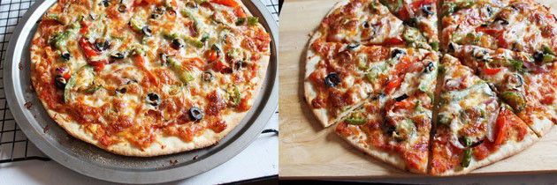 Veg Pizza Recipe | How to make vegetable Pizza | Vegetarian Pizza