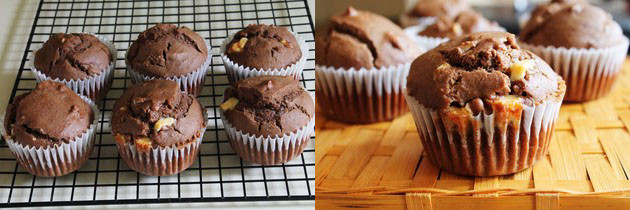 Eggless Mocha Muffins Recipe | Easy eggless muffin recipe