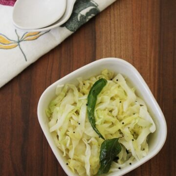 Cabbage Sambharo Recipe | Gujarati warm cabbage salad recipe