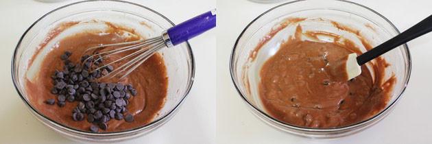 Eggless Chocolate Chocolate Chip Muffins Recipe   Double chocolate muffins