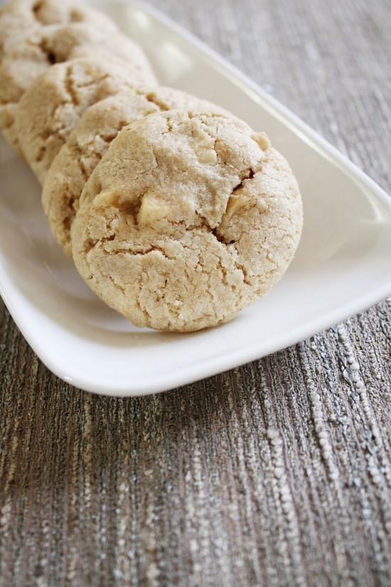 Eggless white chocolate macadamia nut cookies recipe