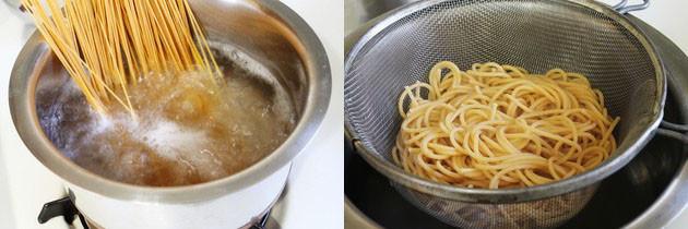cooking spaghetti pasta