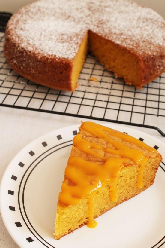 Eggless Mango Cake Recipe Spongy Moist