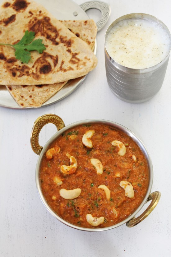 Restaurant style kaju curry (Kaju Butter Masala)