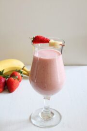 Strawberry Banana Milkshake Recipe | Milkshake without ice cream