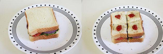 Bombay Veg Sandwich Recipe | Vegetable Sandwich Recipe