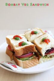 Bombay Veg Sandwich Recipe   Vegetable Sandwich Recipe