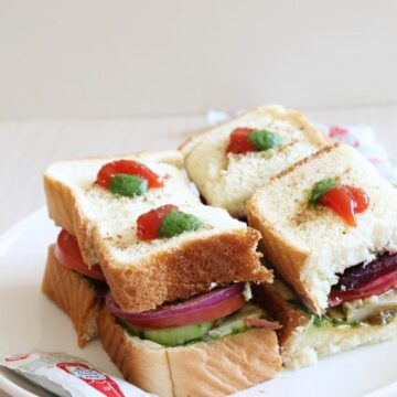Bombay Veg Sandwich Recipe | Vegetable Sandwich Recipe