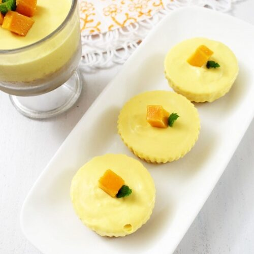 Eggless Mango Cheesecake Recipe | No bake, No gelatin Cheesecake