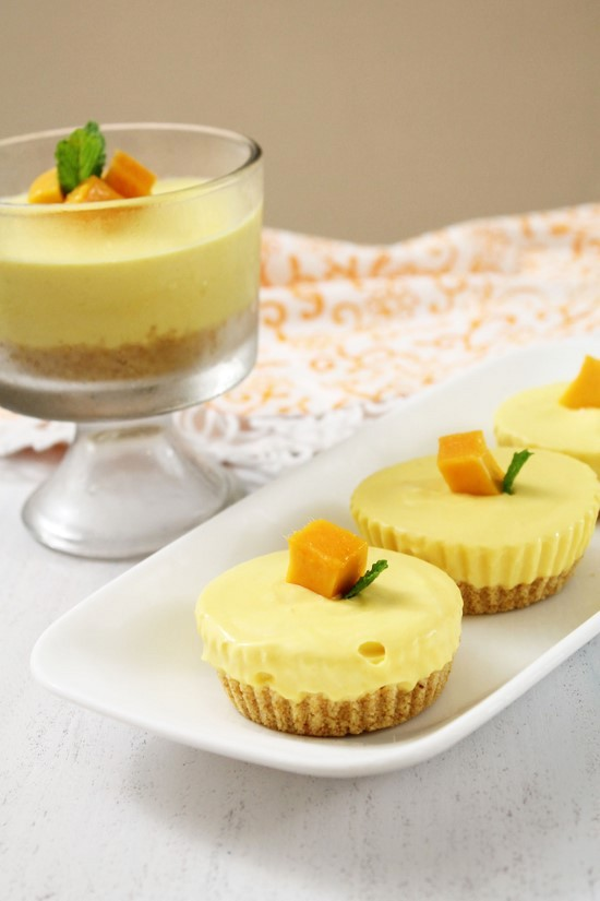 Eggless Mango Cheesecake Recipe | No bake, No gelatin Cheesecake