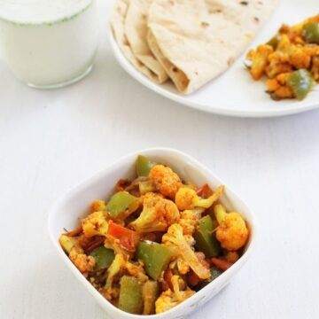 Gobi shimla mirch subzi recipe | Cauliflower with green pepper