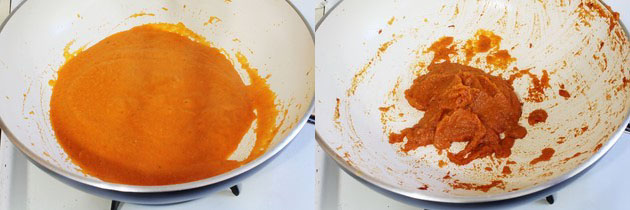 paste is simmering till becomes thick paste