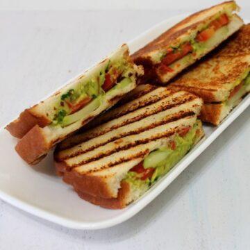 Guacamole Grilled Sandwich Recipe | Guacamole sandwich recipe