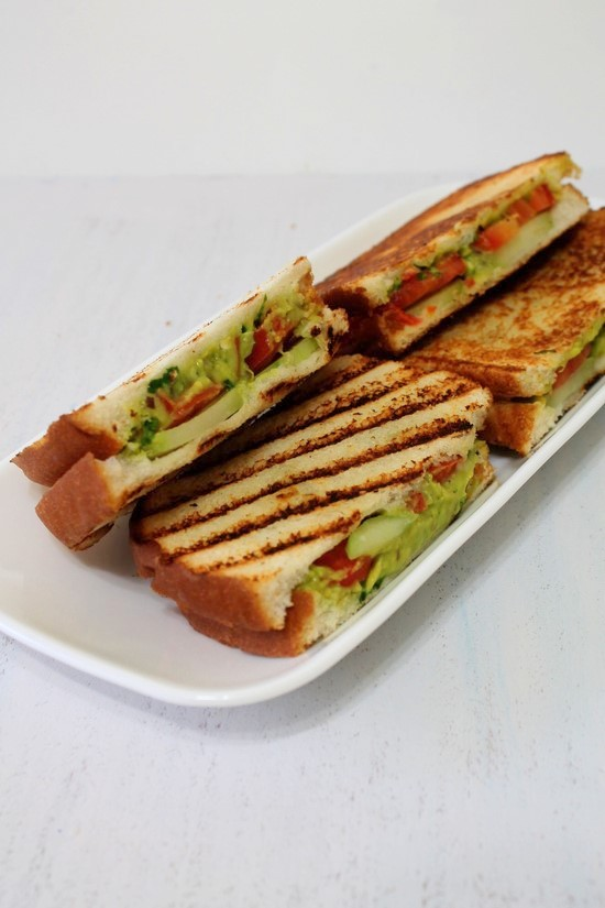 Guacamole grilled sandwich recipe