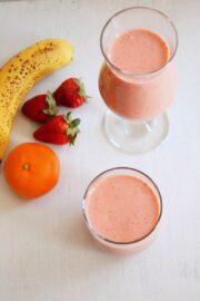Strawberry Banana Smoothie Recipe   Easy Smoothie Recipe