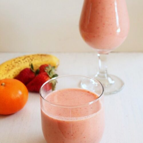 Strawberry Banana Smoothie Recipe | Easy Smoothie Recipe