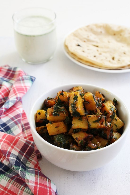 Aloo Methi Recipe | How to make punjabi aloo methi subzi