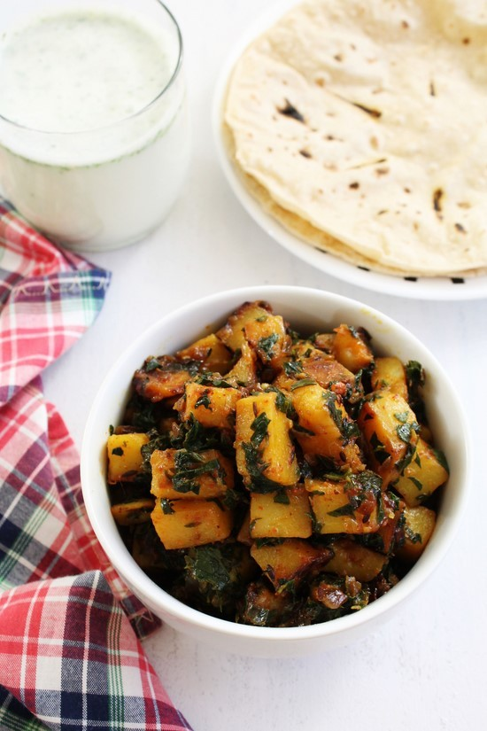 How to make aloo methi subzi