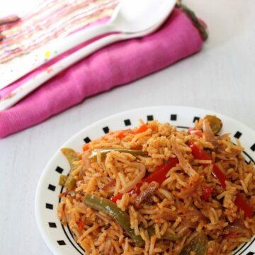 Capsicum Rice Recipe | How to make capsicum masala rice