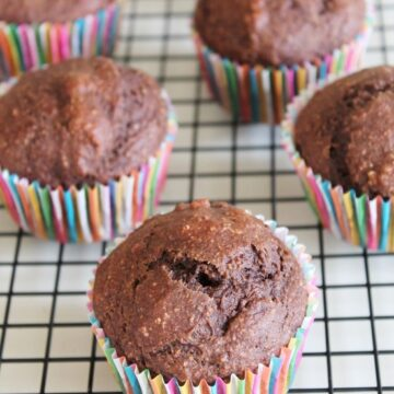 Eggless chocolate banana muffins recipe | Eggless muffins recipe