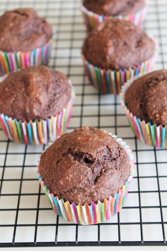 Eggless chocolate banana muffins recipe