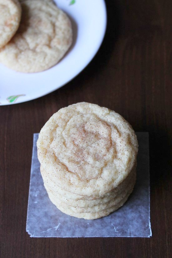 Eggless snickerdoodle cookies recipe
