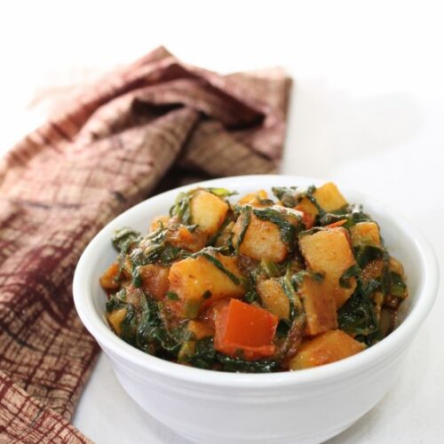 Aloo Palak Sabzi Recipe | How to make dry aloo palak recipe