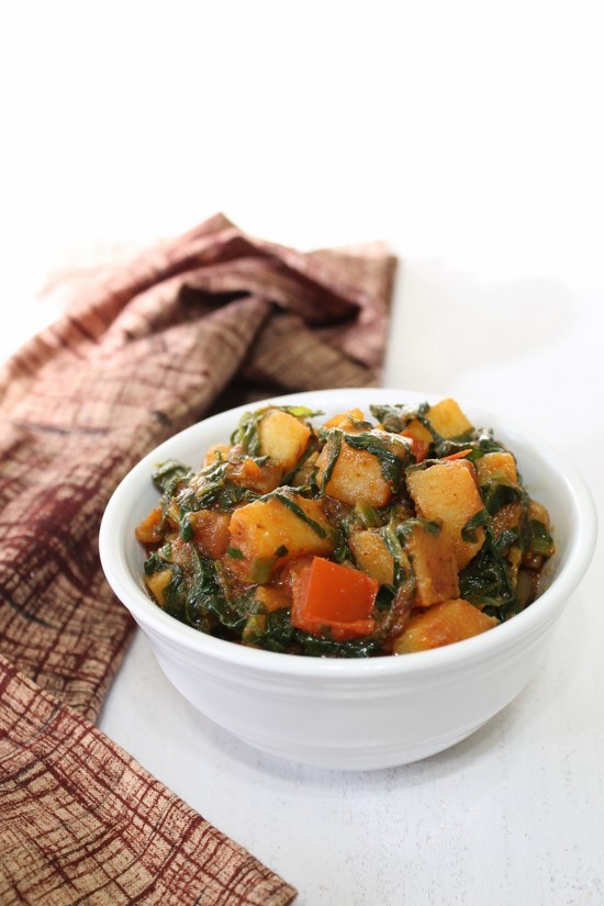 Aloo Palak Sabzi Recipe