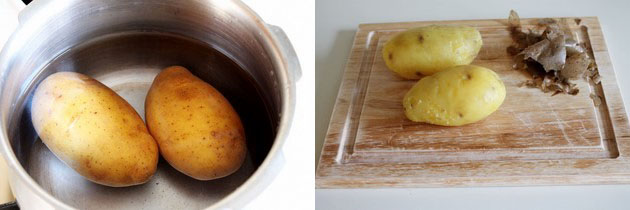 boiled potatoes in pressure cooker