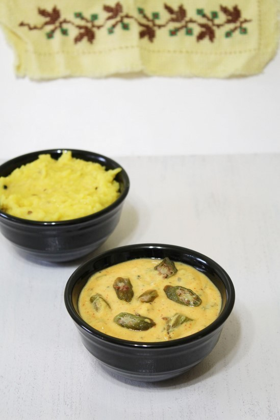 Bhindi Kadhi Recipe | How to make Gujarati Bhinda ni kadhi