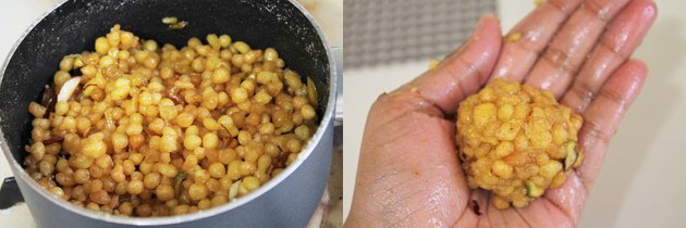 shaping boondi ke laddu