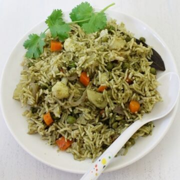 Coriander Rice Recipe | How to make Cilantro rice recipe