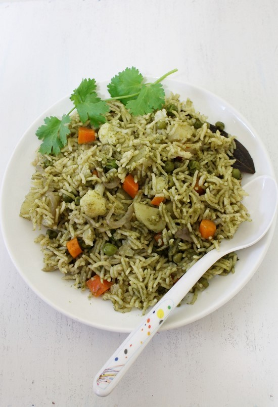 Coriander Rice Recipe (Cilantro rice)
