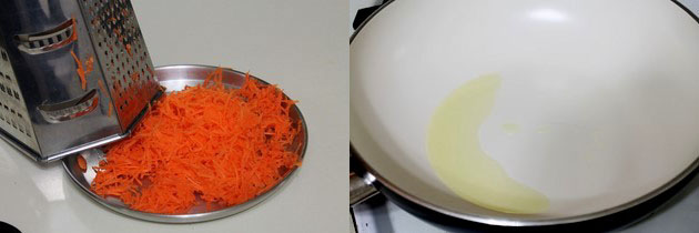 grating carrot for gajar halwa