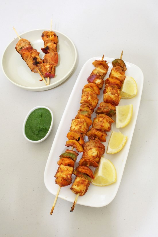 Paneer tikka recipe (in oven & on Stove top)